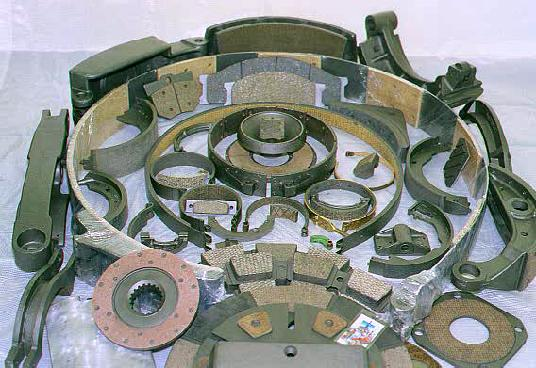 Brake Relining Material : Brake shoe relining and clutch disc